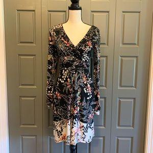 ASOS Warehouse Faux-Wrap Fit & Flare Dress